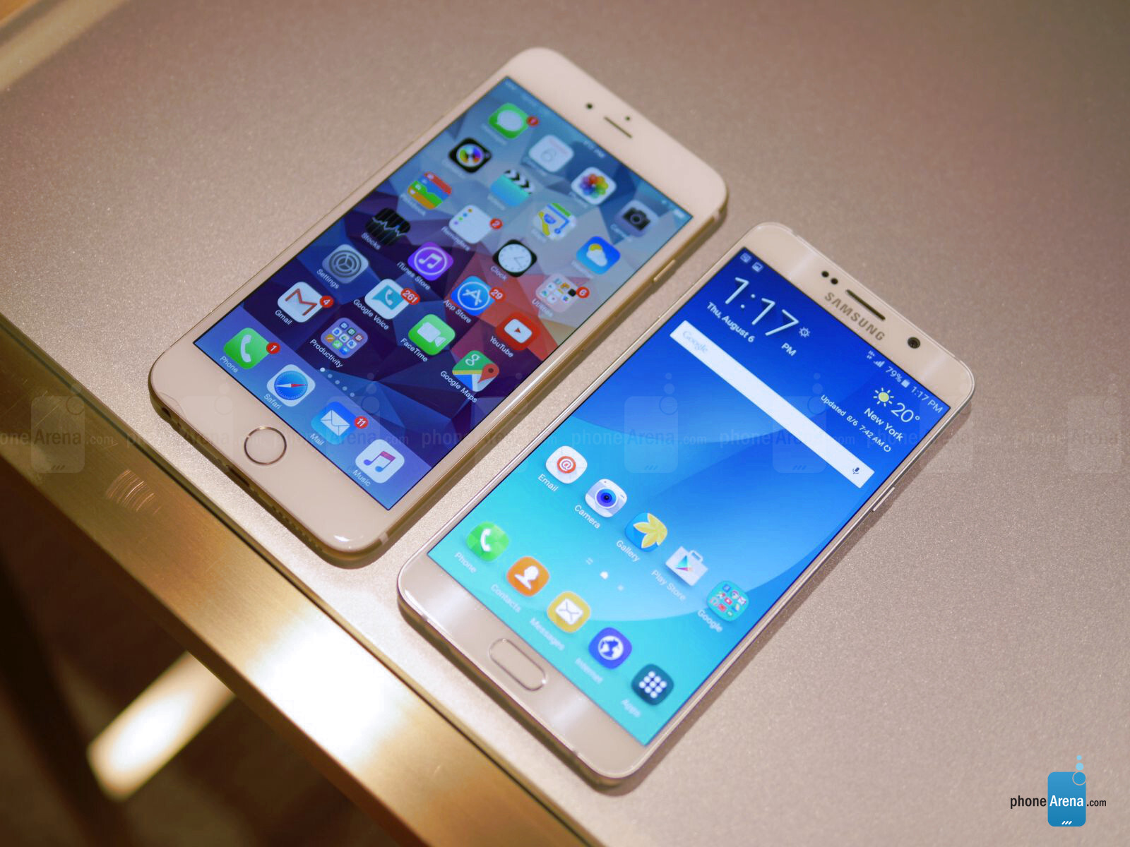 samsung galaxy note5 vs apple iphone 6 plus first look
