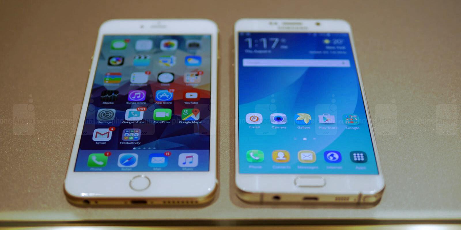 iPhone 6s Plus kontra Galaxy Note 5 / SPEEDTEST