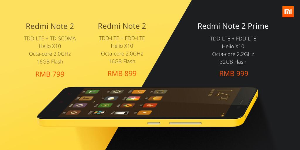 Redmi Note 2 Price