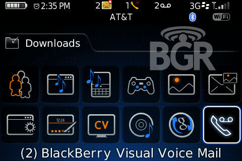 Visual Voicemail for the BlackBerry Bold?