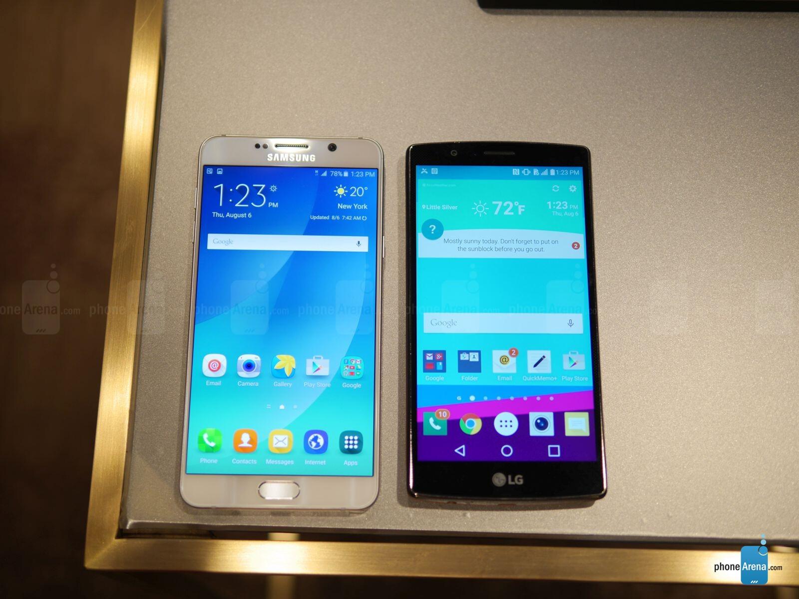 Samsung Galaxy Note5 Vs LG G4 First Look