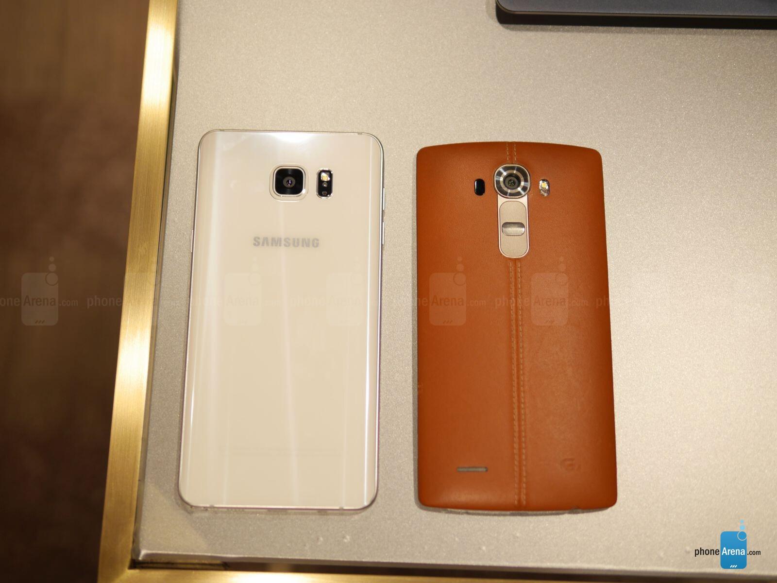 Samsung Galaxy Note5 vs LG G4: first look