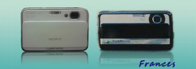 A Sony camera and C903's back - C903 will be Sony Ericsson's new Cyber-shot phone?