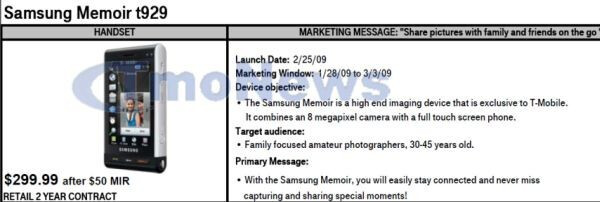 Samsung Memoir almost around the corner?