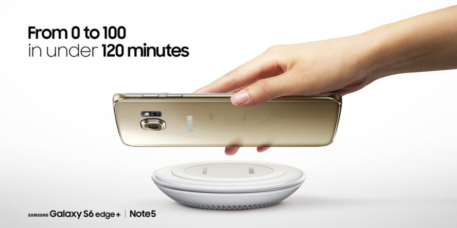 World's first phones with fast wireless charging, Galaxy Note5 and S6 edge+, get fully juiced in 2 hours