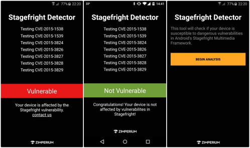 Stagefright Detector App