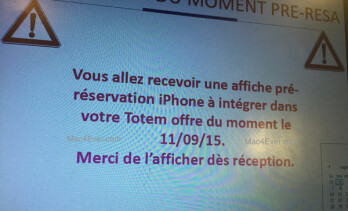 Operator leak confirms iPhone 6s pre-orders to start on the 11th, shipments to begin in September