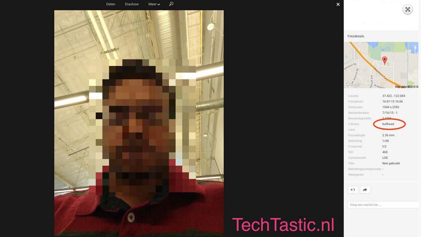 Selfie allegedly snapped by Nexus 5 (2015)