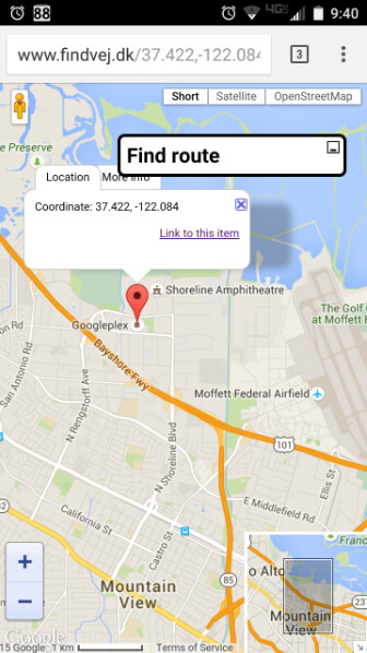 GPS coordinates reveal that the selfie was taken at the Googleplex