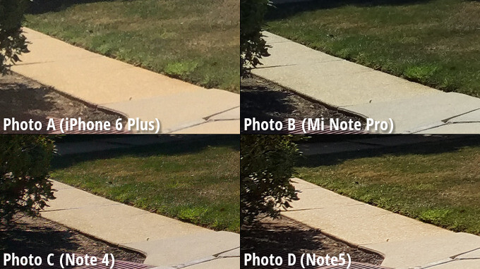 Side-by-side preview. Click on the image to zoom in. - Samsung's Note5 emerges victorious from our blind comparison, smacks the iPhone 6 Plus on the head