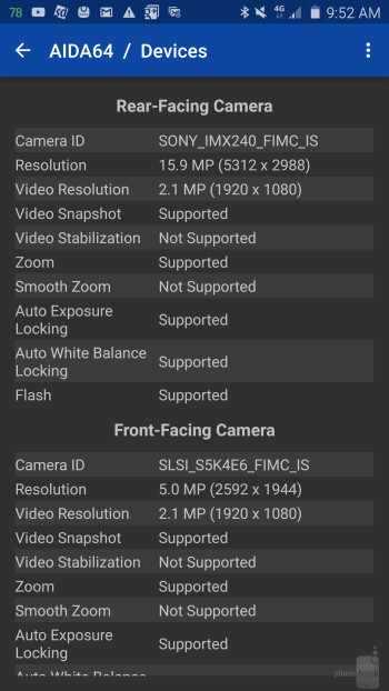 Note5 & Galaxy S6 edge+ camera detaisl — Sony's IMX240 sensor for the main camera and an ISOCELL unit for the front shooter