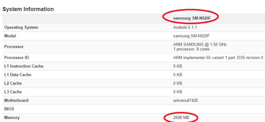 Note5 model pops up in benchmarks with 3 GB of RAM only, likely headed for Europe