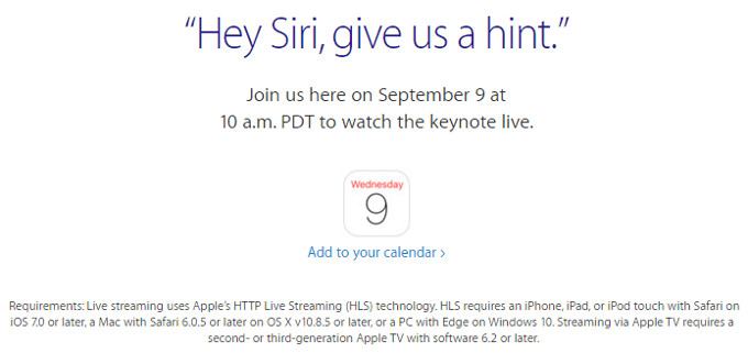 Apple's iPhone 6s announcement on September 9 will be streamed live on Windows, too