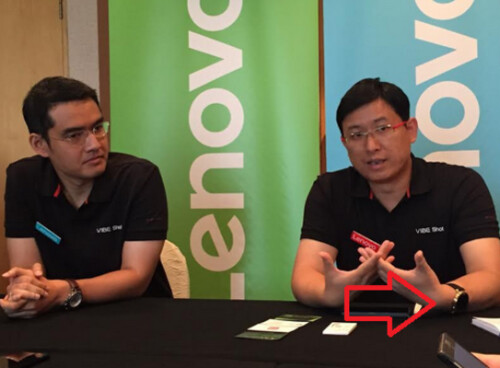 Lenovo executive Dillon Ye is caught wearing the Motorola Moto 360 2
