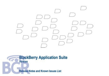 New info about BlackBerry Application Suite
