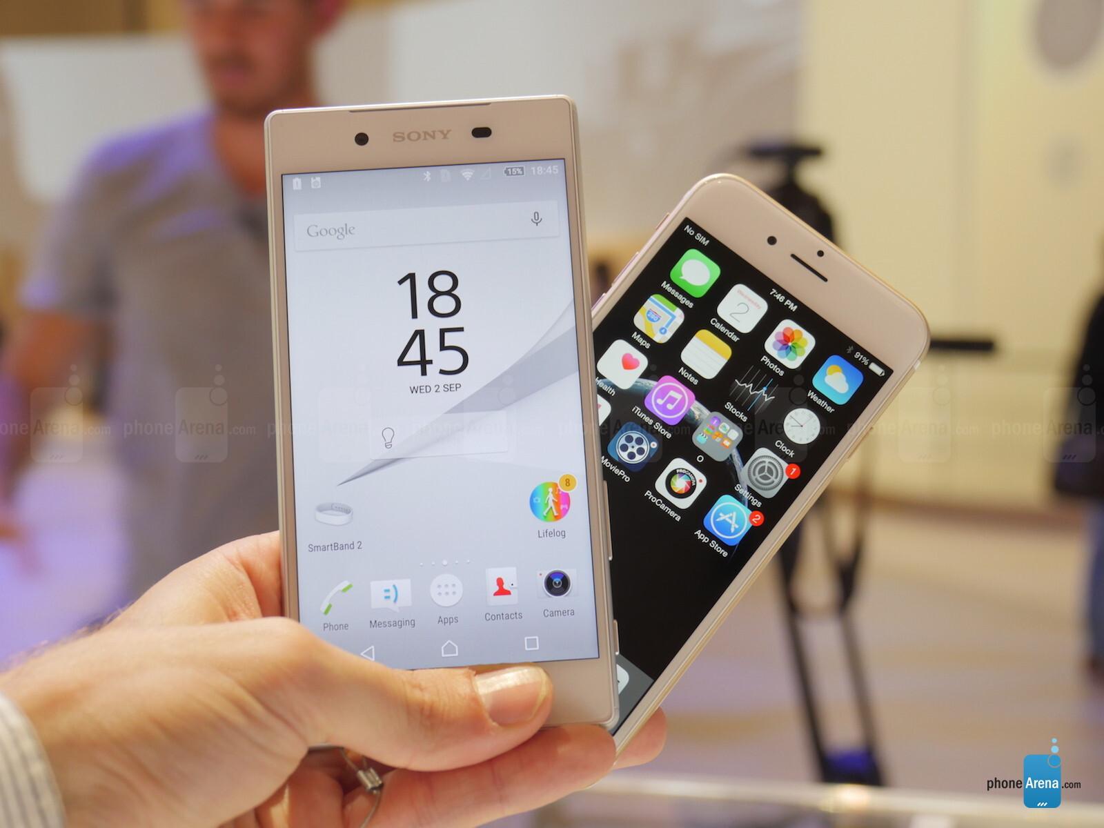 Xperia Z5 Vs Iphone 6