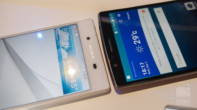 Sony Xperia Z5 vs LG G4: first look - PhoneArena