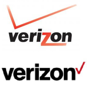 Old logo on top, new logo on bottom - Verizon is next to have a logo change