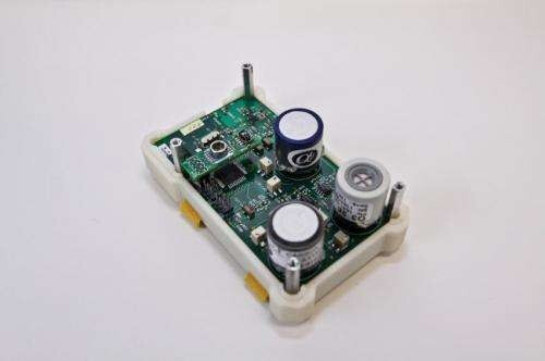 A CitiSense sensor. - Did you know that scientists use smartphones to monitor air pollution levels in San Diego?