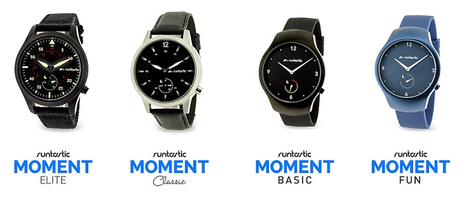 Runtastic Moment smartwatches officially unveiled: analog watches meet fitness-tracking capabilities