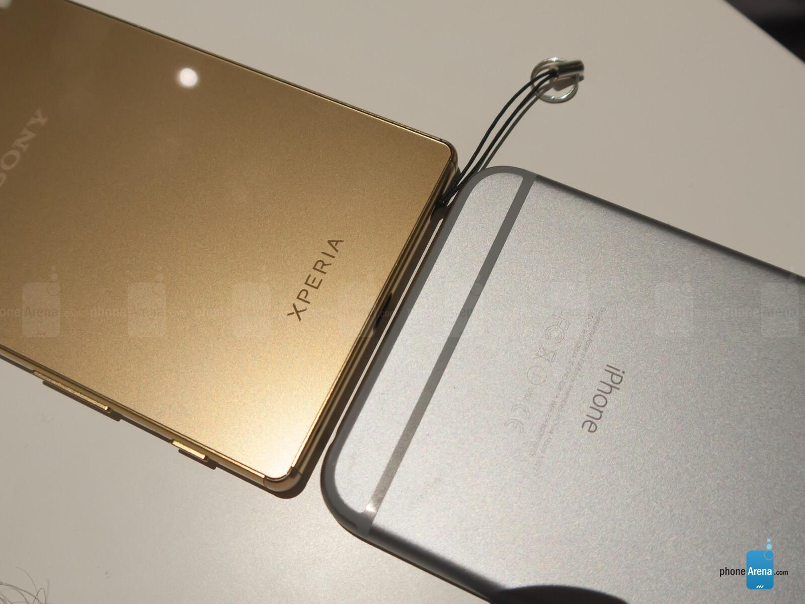 sony xperia z5 premium vs apple iphone 6 plus first look