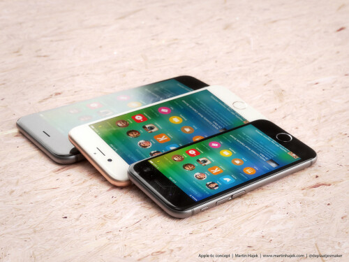 Here's what a new 4-inch iPhone may look like next to the iPhone 6s and 6s Plus (renders by Martin Hajek)