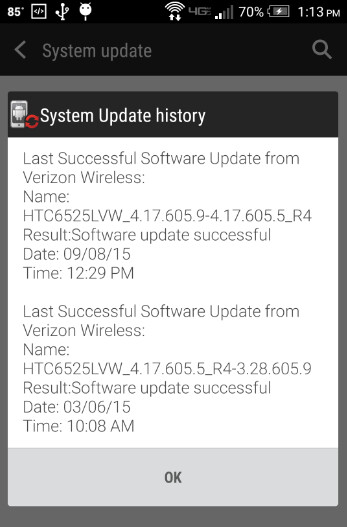 Security update is being sent out to the Verizon version of the HTC One (M8) - Verizon's HTC One (M8) gets updated to thwart Stagefright?