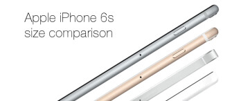 Size comparison time: Apple iPhone 6s gets compared to its rivals