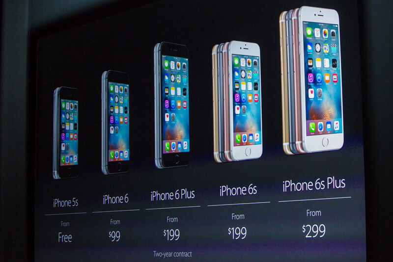 Apple IPhone 6s And Plus Pricing