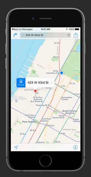Maps to quickly get directions home