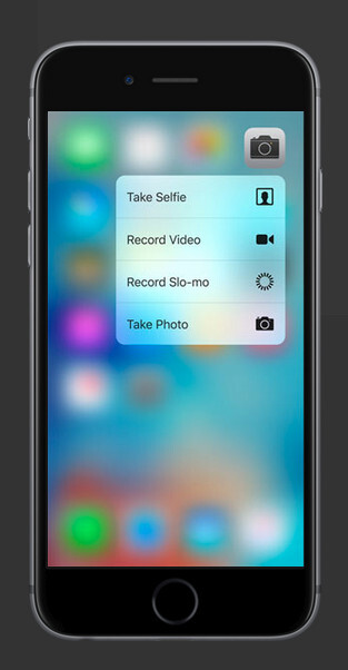 The Camera to quickly take a selfie or start slo-mo video capture