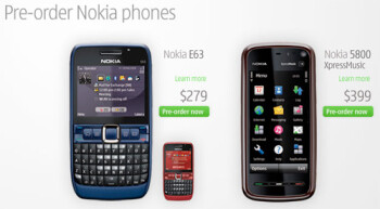 Nokia 5800 XpressMusic now available for U.S. pre-orders on the web site