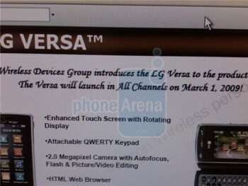 LG Versa ready to release March 1st