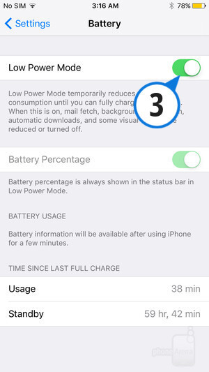 Enable Low Power Mode