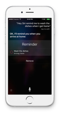 Siri is aware of your location...