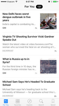 Your personalized news feed