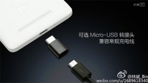 The Xiaomi Mi 4 will work with both a Type-C and MicroUSB plug