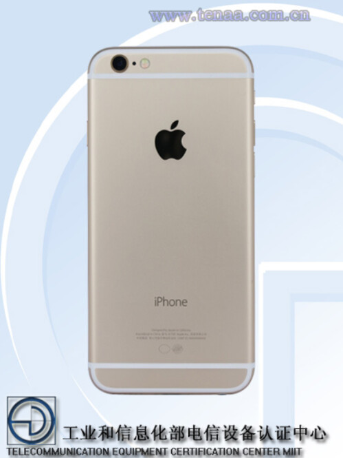 Apple iPhone 6s is certified in China by TENAA