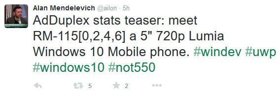 Microsoft Lumia 750 appears on Adduplex data? - Microsoft Lumia 750 appears on Adduplex data?