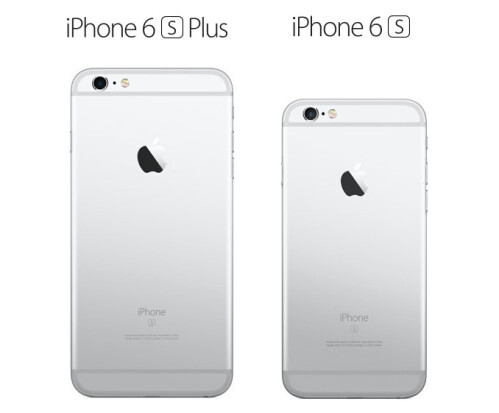 iPhone 6s Plus and 6s in silver
