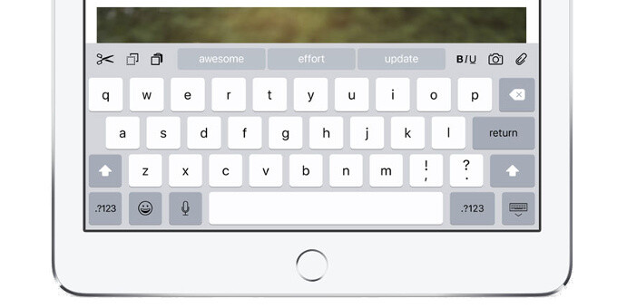 How to enable or disable the lowercase keys on iOS 9's keyboard