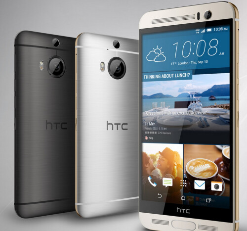 New HTC One M9+ with 21 MP OIS camera, PDAF and laser AF