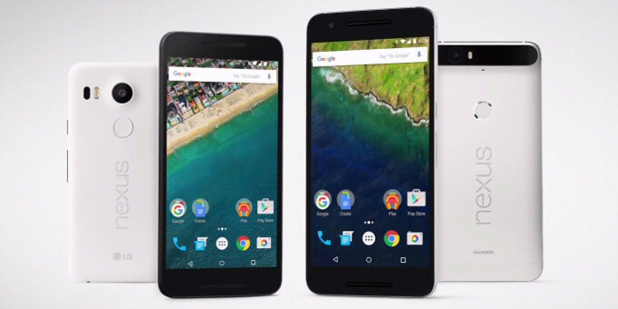 Nexus 6P and Nexus 5X size comparison versus iPhone 6s, 6s Plus, Note5, S6, Z5, G4, M9, and others