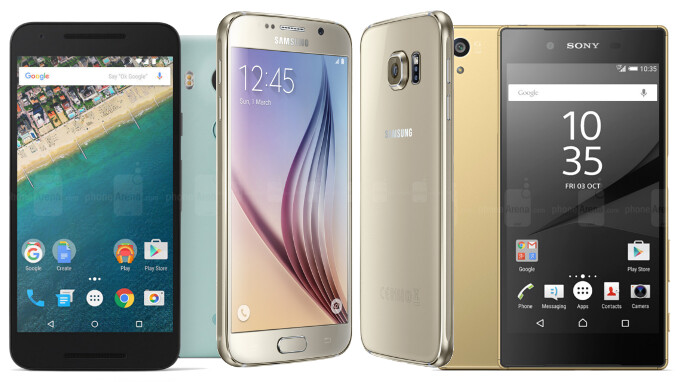Google Nexus 5X vs Samsung Galaxy S6 vs Sony Xperia Z5: specs comparison