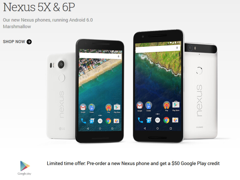 The Nexus 5X and Nexus 6P could both ship starting on October 25th - Nexus 5X and Nexus 6P could start shipping on October 25th, pre-orders live at Google Store