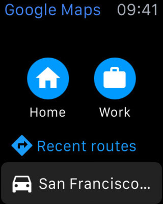 Google Maps now works on the Apple Watch with limited functionality - Google Maps now available for Apple Watch; app offers simple navigation to home or work