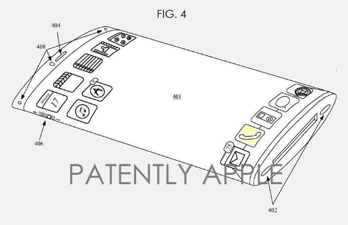 Apple receives a patent for a curved, flexible screen