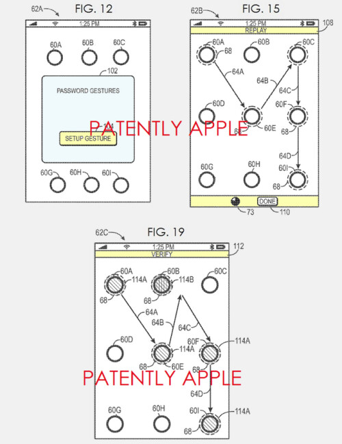 Apple patents advanced version of its passcode gesture system