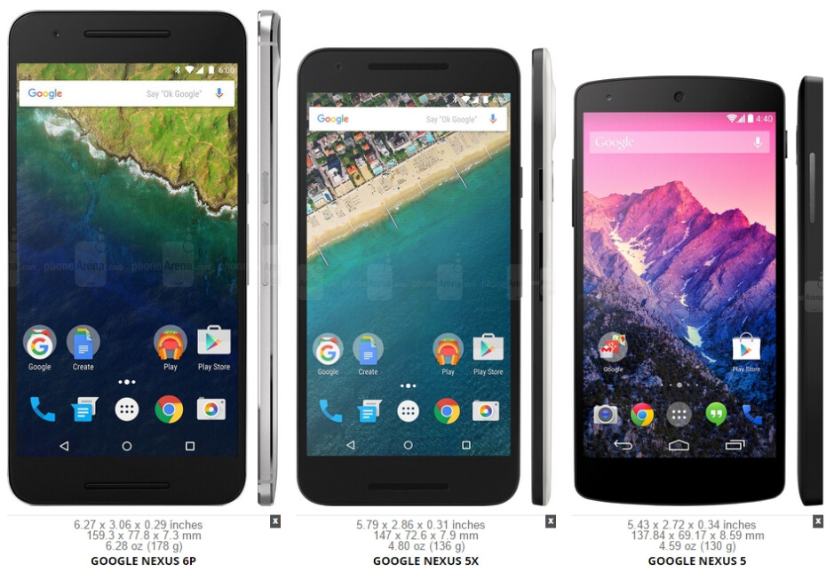 Size comparison between the Nexus 6P, Nexus 5X, and Nexus 5 - What I wanted from the Google Nexus 5X (as a Nexus 5 owner)