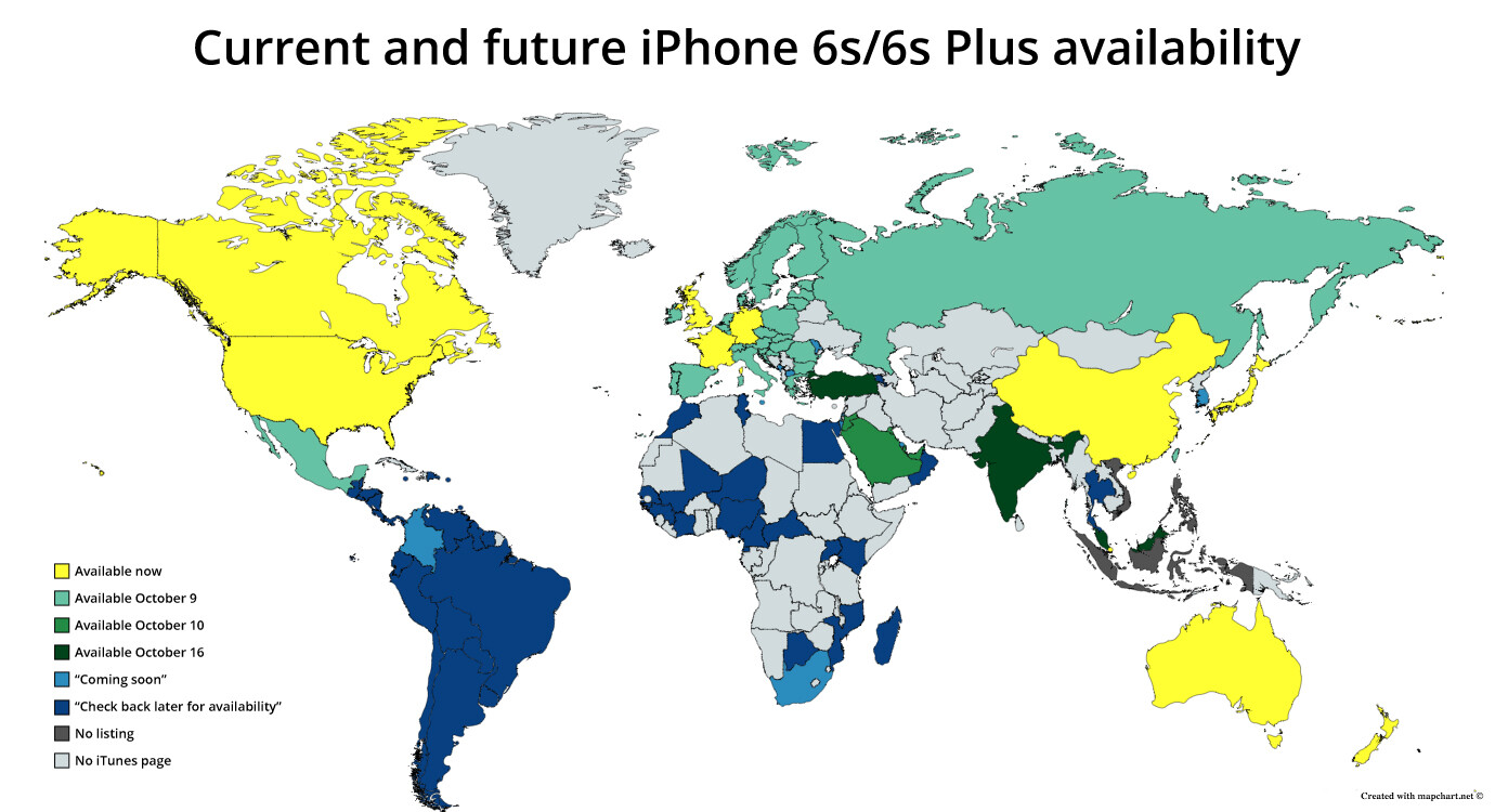 iphone 6s availability apple iphone 6s plus country availability map and lte 11466